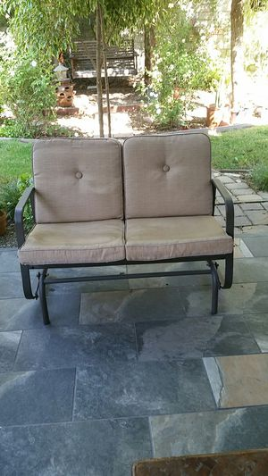 glider patio furniture aluminum for Sale in Rancho Cucamonga, CA