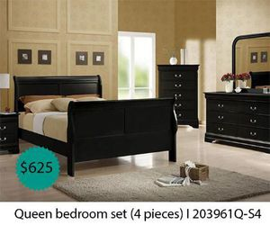 Queen bedroom set 4 pieces for Sale in Whittier, CA