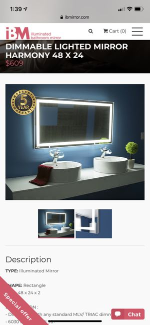 Dimmable mirror for Sale in Port St. Lucie, FL