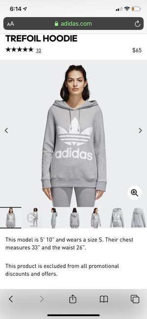 Women's Adidas Trefoil Hoodie Size Small for Sale in Lake View Terrace, CA