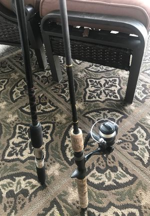 2 rods and one reel for Sale in Baldwin, NY