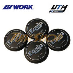 4 PCS WORK WHEEL EQUIP 01-03 FLAT YPE CENTER CAPS BLACK for Sale in El Monte,  CA