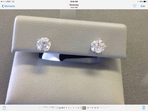 Brand New Diamond Earrings Round SI2 I1 Color I for Sale in Silver Spring, MD