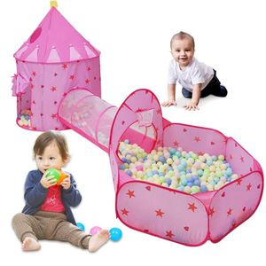 BRAND NEW Kids Outdoor Toy Tent Crawl Tunnel and Ball Pit with Basketball Hoop for Kids, Toddler Playhouse Gym for Baby to Play Indoor and Outdoor for Sale in Queens, NY