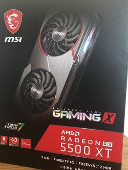 MSI Gaming Radeon RX 5500 XT Boost Clock: 1845 MHz 128-bit 8GB GDDR6 Gaming Graphics Card GPU for Sale in Beaverton,  OR