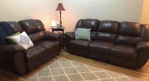 Super comfy leather sofa set for Sale in Jersey City, NJ