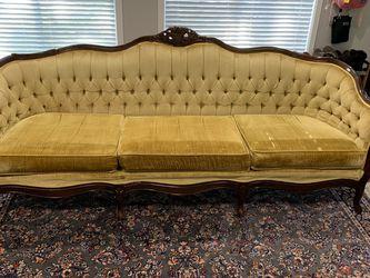 Golden Velvet Art Deco Sofa for Sale in Kirkland,  WA