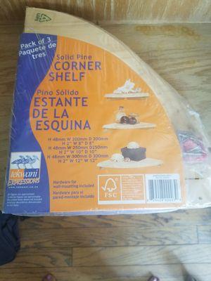 Corner Shelf - solid pine (pack of 3) for Sale in Fremont, CA