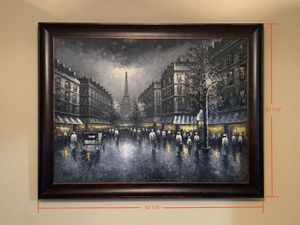 Custom painting of the streets of Paris for Sale in Fresno, CA