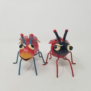 Yard Metal Sculpture Pink Beetle Bug and lady bug HIMSICAL Garden Statue Pot Sitter for Sale in San Antonio, TX