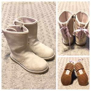 Girl's UGG Corene boots paid $98 size 10 Good condition! Color gold Metallic Gold No rips, tears or issues normal wear. Super cute! for Sale in Washington, DC