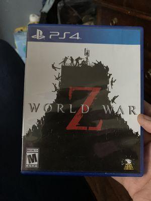 World War Z Ps4 for Sale in Palmdale, CA