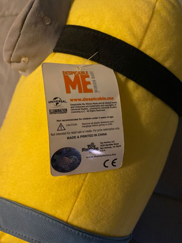 Despicable Me 2 Minions Kevin stuffed animal new 22 inches