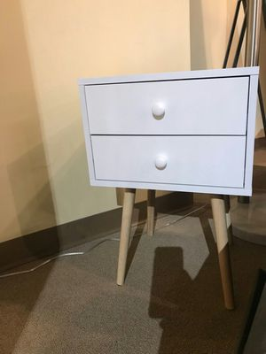 2-Drawer End Table, White, 7085-W for Sale in Santa Ana, CA