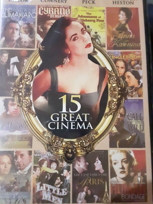 15 Great Cinema. Elizabeth Taylor, Sean Connery, Gregory Peck, Charleston Heston