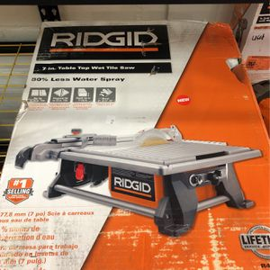 "Brand New Ridgid 7"" Table Top Wet Tile Saw $160 for Sale in La Habra, CA"