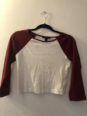 Forever 21 Cropped Baseball Tee for Sale in Los Angeles, CA