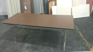 6 ft by 30 in folding table for Sale in Columbus, OH