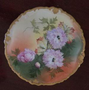 Antique Charles Martin Limoges, France Hand Painted Cabinet Plate Circa 1890's for Sale in Denver, CO