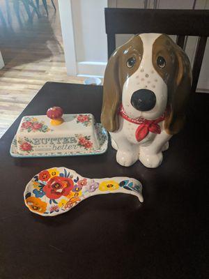 Kitchen essentials - floral/dog for Sale in San Diego, CA
