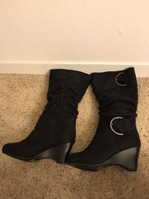 Black Wedge Boots for Sale in Lafayette, CA