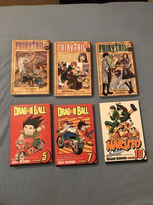 Manga Comics (Dragonball, Naruto, Fairy Tail) for Sale in Fresno, CA