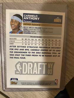 Carmelo Anthony Trading Card for Sale in Cleveland,  OH