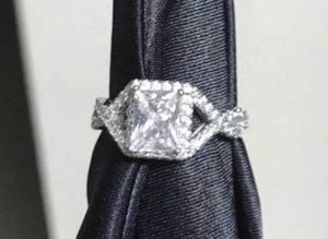 Stunning 5ctw Diamond Engagement Wedding Ring. .925 Sterling Silver size 8 for Sale in Hutto, TX