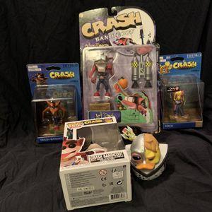 Crash Bandicoot Toys Lot for Sale in Spartanburg, SC