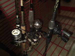Lot of 4 fishing rod and reels 3 tackleboxes for Sale in Avon, IN