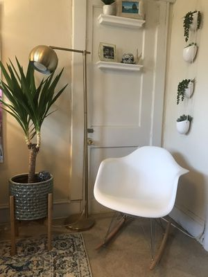 Modern White Molded Plastic Rocking Chair for Sale in Washington, DC