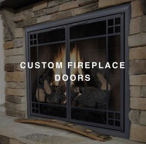 www. ExceptionalFire .com - Fireplace Glass Door Standard and Custom Size for Sale in Laguna Beach, CA