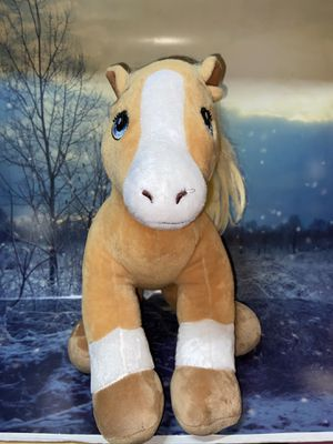 "Build A Bear Horse Heart Palomino 20"" plush blue heart from BAB for Sale in Bellflower, CA"