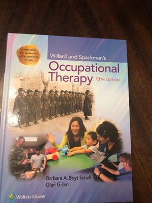Willard and Spackman's Occupational Therapy 13th ed for Sale in Lauderdale Lakes, FL