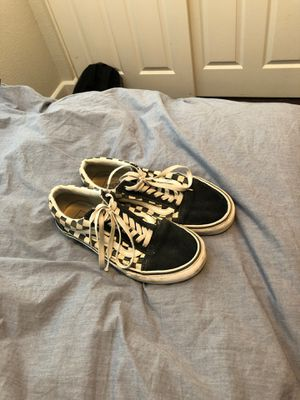 Checkered White and Black Laced Vans for Sale in Livermore, CA