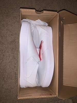 White Slip On Vans, Women's Size 8.5, Brand New for Sale in Buckeye, AZ