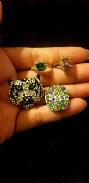 Jewelry Rings lot- Silver/Gold Diamonds for Sale in Riverside, CA