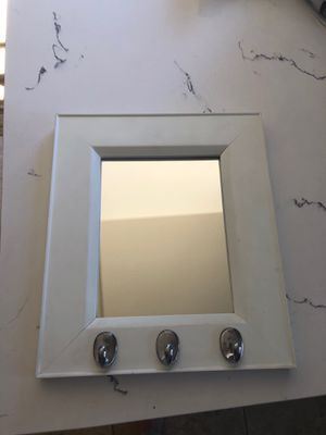 Small mirror with hooks for Sale in Orcutt, CA