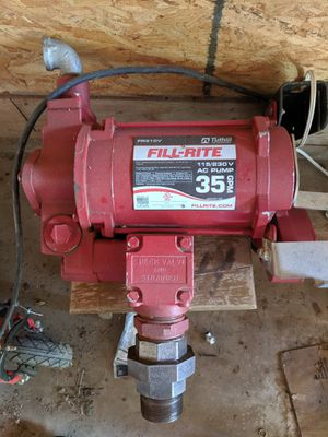 Fill right 35 Gpm fuel pump for Sale in San Angelo, TX
