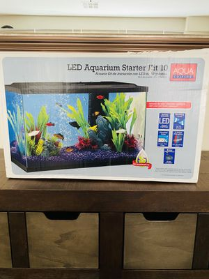 New open box 10 gallon led aquarium starter kit for Sale in Las Vegas, NV