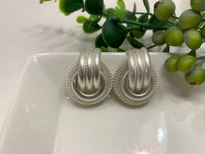 Multi Layer Metal Round Hoop Earrings, White/Silver for Sale in Irvine, CA