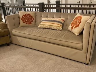 Designer Brown/grey Couch for Sale in Seattle,  WA