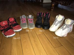 3 jordans and 1 nike shoes for Sale in Silver Spring, MD