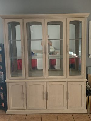Beige China Cabinet for Sale in Jacksonville, FL