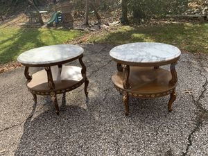 Set of marble antique tables for Sale in Pittsburgh, PA