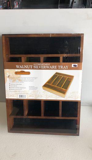 Mountain woods walnut silverware tray for Sale in Garden Grove, CA