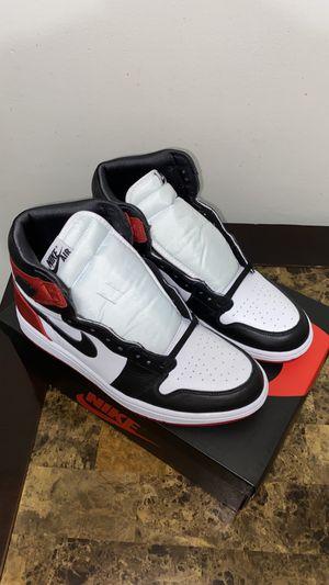 Jordan 1 satin black toe for Sale in Los Angeles, CA