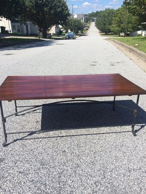 Used, Country Farm Table with metal legs for Sale for sale  Decatur, GA