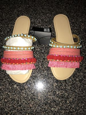 Brand new Forever 21 fringe slides for Sale in Silver Spring, MD