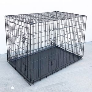 "(New In Box) $65 Folding 48"" Dog Cage 2-Door Pet Crate Kennel w/ Tray 48""x29""x32"" for Sale in Whittier, CA"